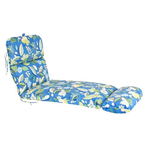 Outdoor Chaise Lounge Cushion Blue Green Floral Target
