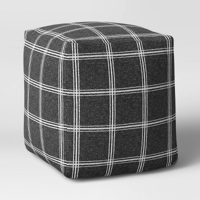 Plaid Square Pouf - Threshold™