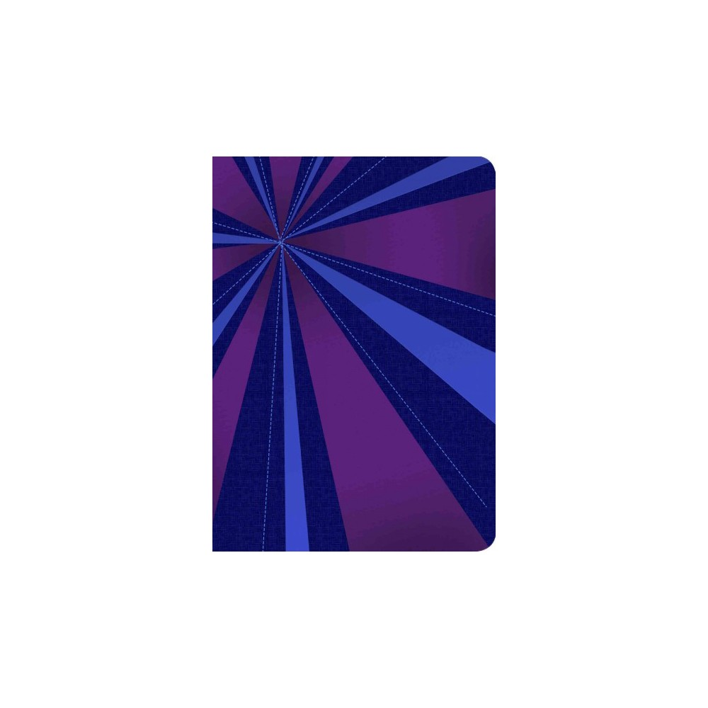 Santa Biblia / Holy Bible : Reina-Valera 1960, rayos de azul/violeta, simil piel / Blue Rays/Purple