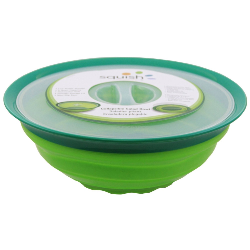 Image of Squish Collapsible Salad Bowl, Green