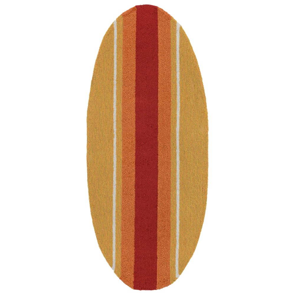 "Image of ""1'6""""X3'10"""" Surfboard Accent Rug - Liora Manne, Multi-Colored"""