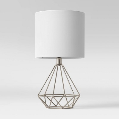 Wire Geo Table Lamp (Includes LED Light Bulb)Silver - Project 62™