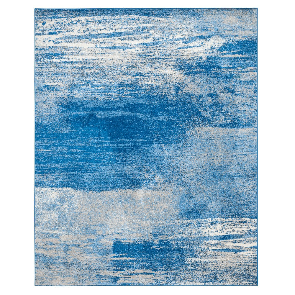 Silver/Blue Fleck Loomed Area Rug 11'X15' - Safavieh