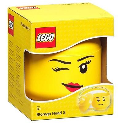 Room Copenhagen LEGO Large 9 x 10 Inch Plastic Storage Head | Winking