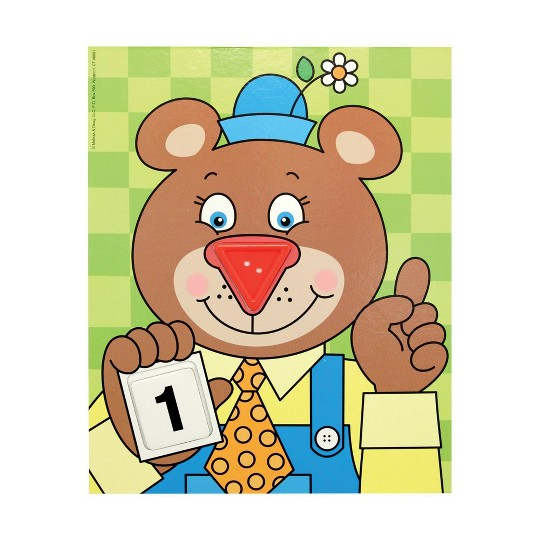 Melissa & Doug Big Button Number Fun Counting and Matching Activity Set Board Game, Kids Unisex image number null