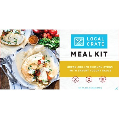 Local Crate Greek Grilled Chicken Gyros with Savory Yogurt Sauce Meal Kit - Serves 2 - 30.8oz