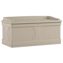 Suncast 99 Gallon Deck Box and Bench with Seating Capacity for 2 | DB9500