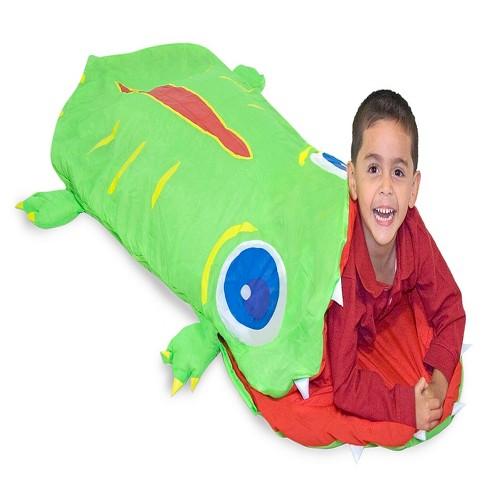 Melissa Doug Sunny Patch Augie Alligator Sleeping Bag 6 Feet Long