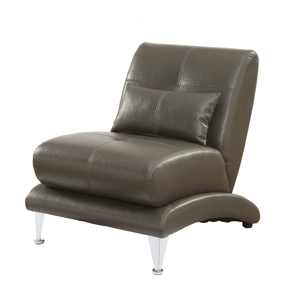 Iohomes Cianciolo Contemporary Leatherette Chair Gray - Homes: Inside + Out
