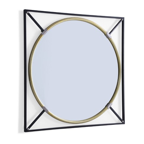 "Aiden Lane 31""x31"" Saxton Oversized Decorative  Wall Mirror Black - image 1 of 7"