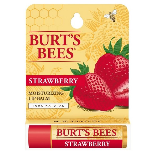 Burt's Bees® Lip Balm - Strawberry - .15oz - image 1 of 6