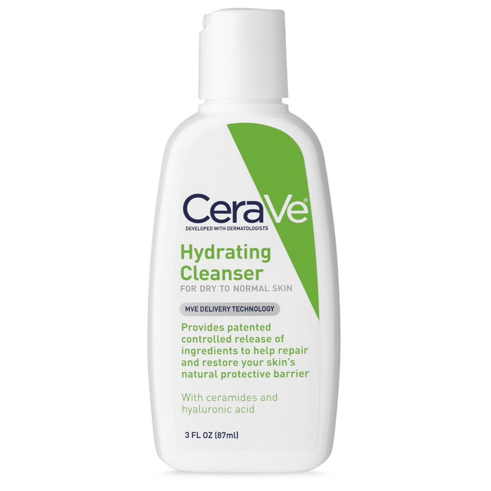 Unscented CeraVe Hydrating Facial Cleanser for Normal to Dry Skin - 3oz