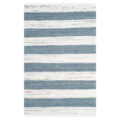 Carine Flatweave Area Rug - Ivory / Gray (4' X 6')- Safavieh®