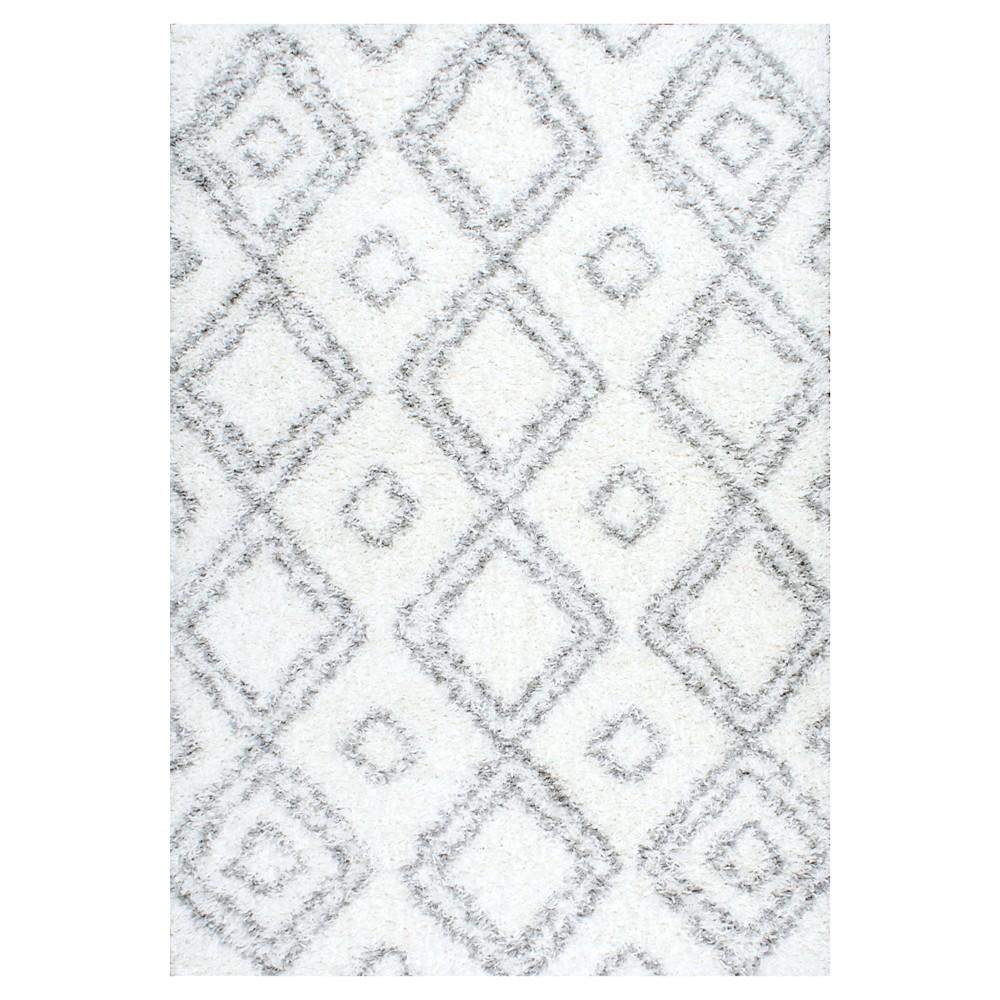 nuLOOM Iola Easy Shag Area Rug - White (8' x 10')