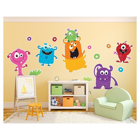Monsters Giant Wall Decal - image 1 of 1