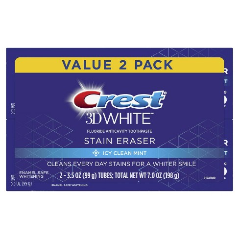 Crest 3D White Stain Eraser Whitening Toothpaste Icy Clean Mint - 3.5 oz - image 1 of 3