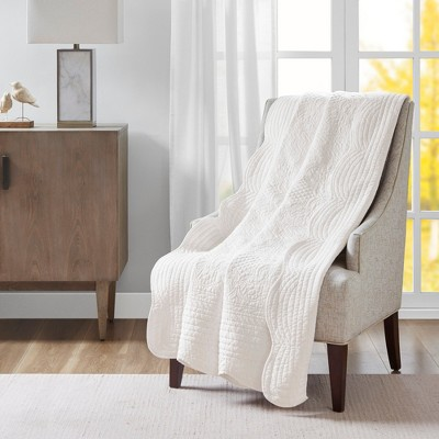 """60""""x72"""" Marino Quilted Throw Blanket with Scallop Edges"""