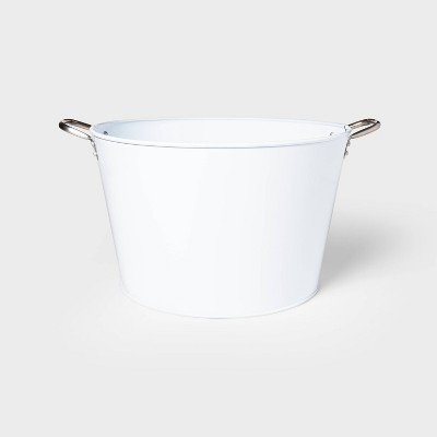 6.6gal Steel Small Beverage Tub White - Sun Squad™