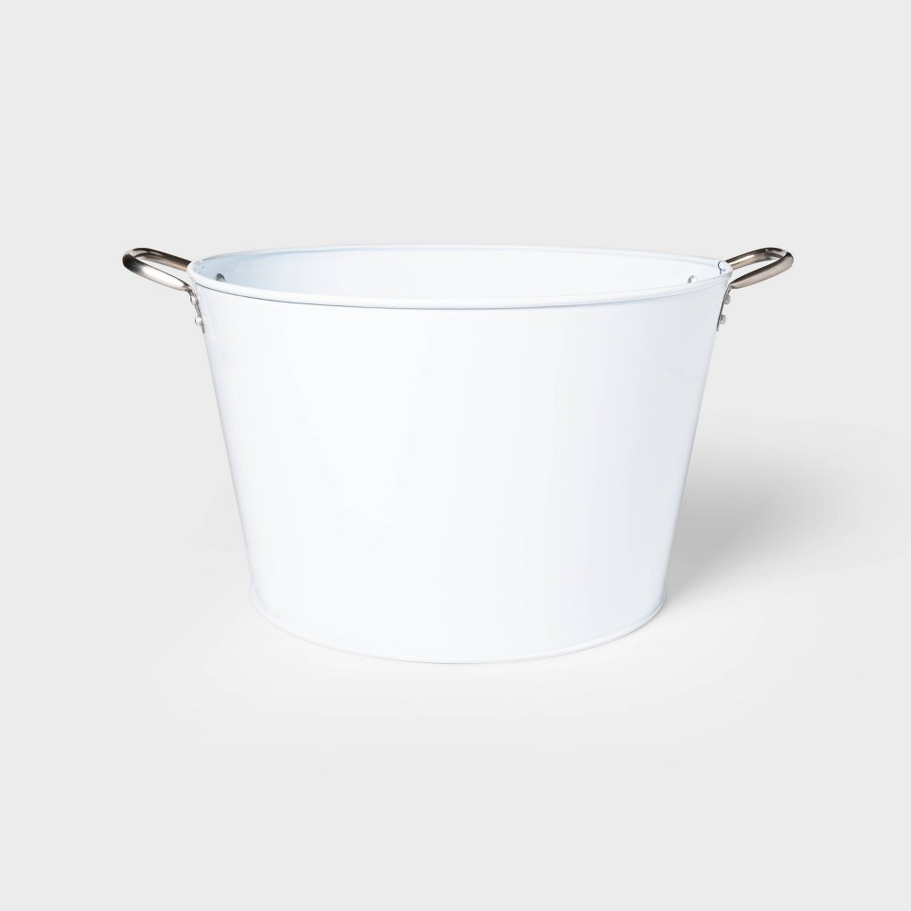 Image of 6.6gal Steel Small Beverage Tub White - Sun Squad