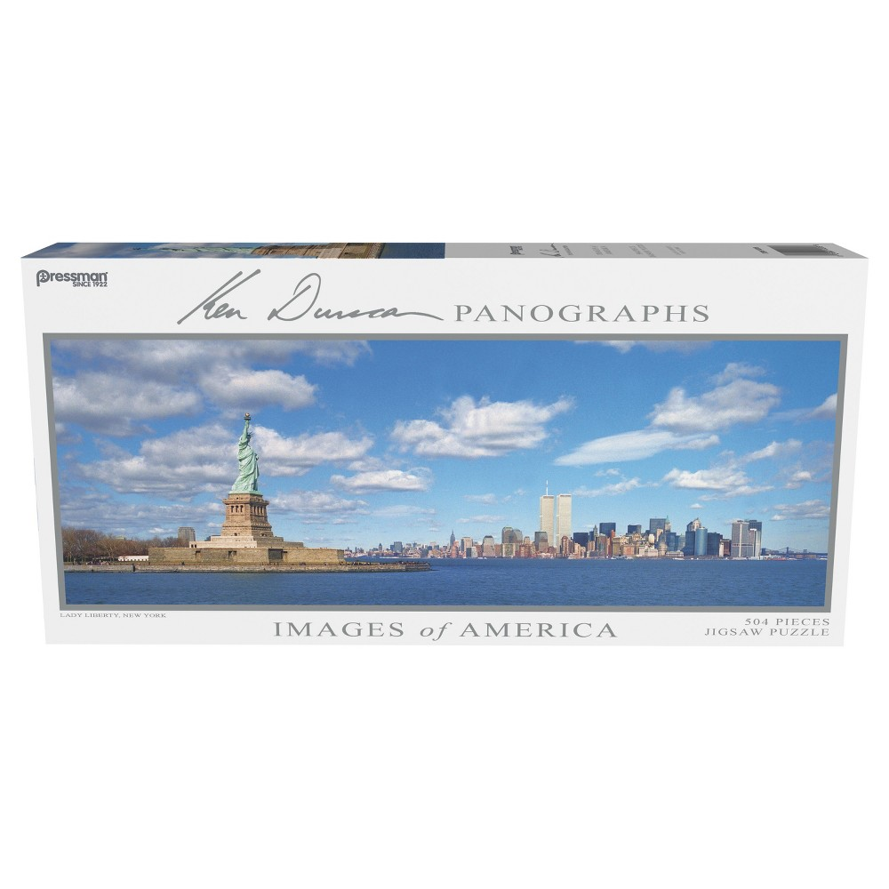 Pressman Images of America - Lady Liberty Panoramic Puzzle 504pc