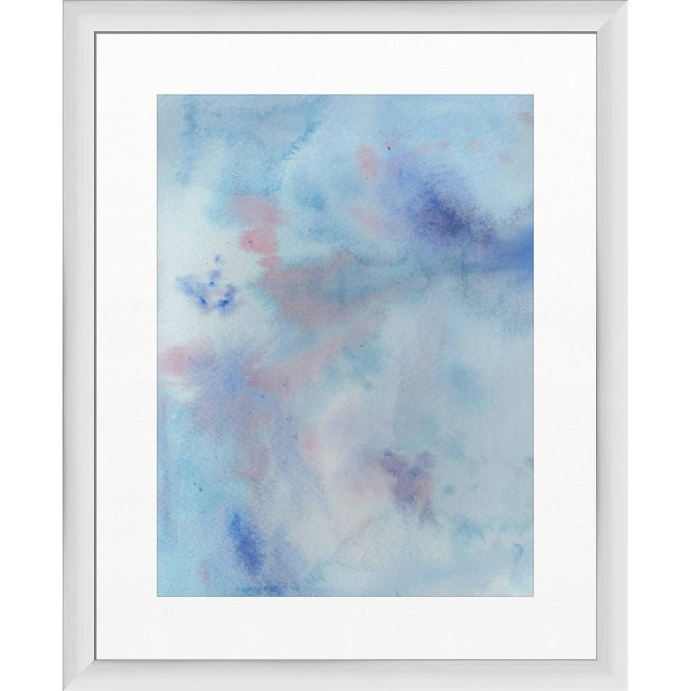 18 34 X 22 34 Blue Sky Framed Wall Art White Ptm Images