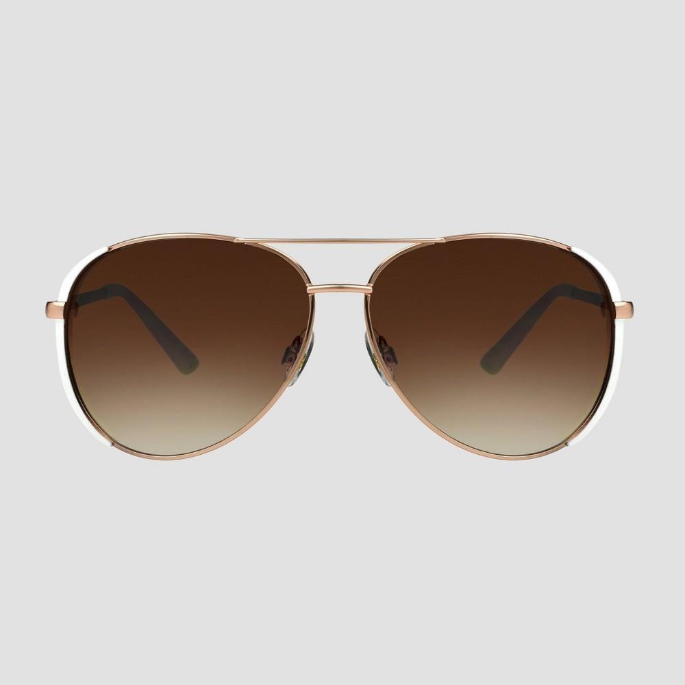 Women 39 S Aviator Sunglasses A New Day 8482 Rose Gold