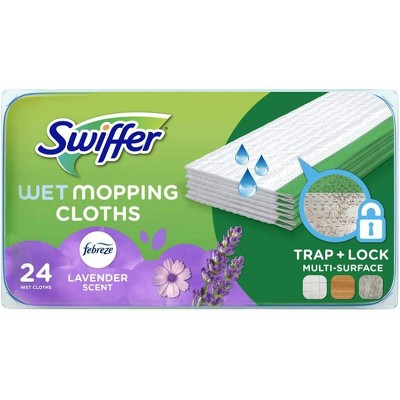 Swiffer Sweeper Wet Mopping Cloths with Febreze Freshness - Lavender Vanilla & Comfort - 24ct
