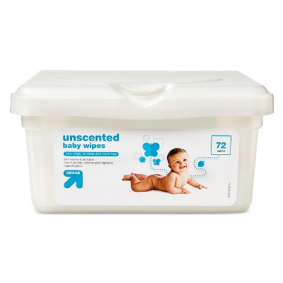 Baby Wipes Tub - Unscented - 72 ct - Up&Up™