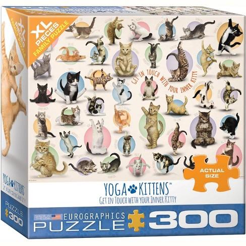 Eurographics Inc. Yoga Kittens 300 Piece XL Jigsaw Puzzle - image 1 of 4