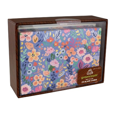 """4.875"""" x 3.5"""" 24ct Ditsy Floral Cards"""