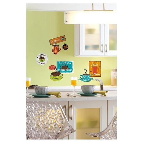 RoomMates Café Peel & Stick Wall Decals - image 1 of 1