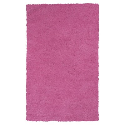 """Hot Pink Solid Woven Area Rug 3'3""""x5'3"""" - KAS Rugs"""