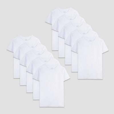 Fruit of the Loom Boys' 10pk Shirt - White