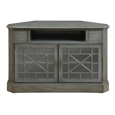 Delicieux Jacey Two Door Corner Media Cabinet   Grey   Christopher Knight Home :  Target