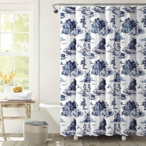 French Country Toile Single Shower Curtain Lush Décor Target
