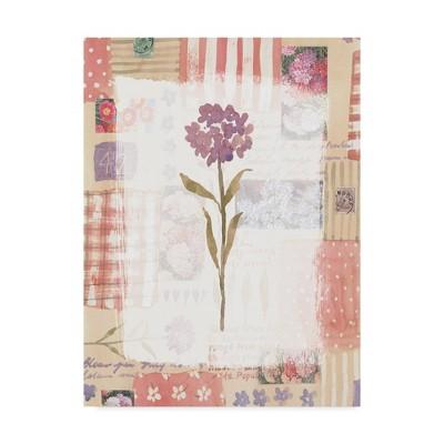 """14"""" x 19"""" Purple Flower Rustic by Hope Street Designs - Trademark Fine Art"""