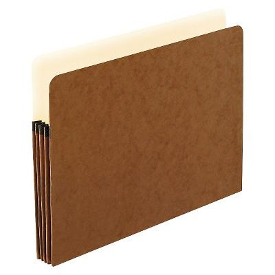 """Pendaflex 3 1/2 """" Expanding File Folder Fiber Letter 25ct Manila/Red"""