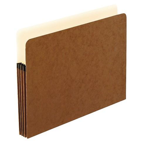 """Pendaflex 3 1/2 """" Expanding File Folder Fiber Letter 25ct Manila/Red - image 1 of 1"""