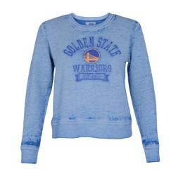 NBA Golden State Warriors Women's Retro Sport Burnout Crew Neck Sweatshirt
