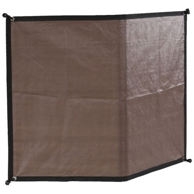 Advantek Pet 23345 Gazebo Outdoor 5 Foot Wide Sun Shade Reversible Weatherproof Dog Kennel Cover Wall with 4 Inch Ball Tires, Brown