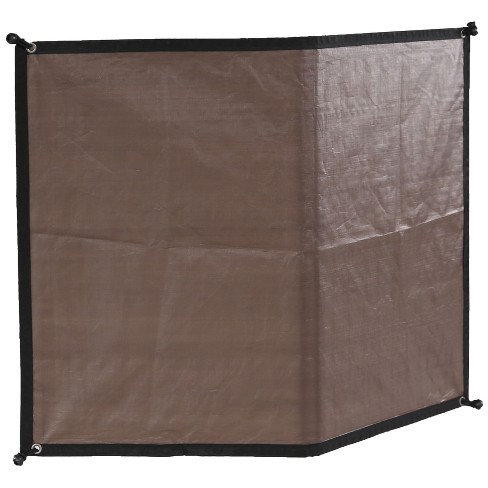 Advantek Pet 23345 Gazebo Outdoor 5 Foot Wide Sun Shade Reversible Weatherproof Dog Kennel Cover Wall with 4 Inch Ball Tires, Brown - image 1 of 4