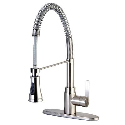 Modern Spiral Pull Down Kitchen Faucet - Kingston Brass
