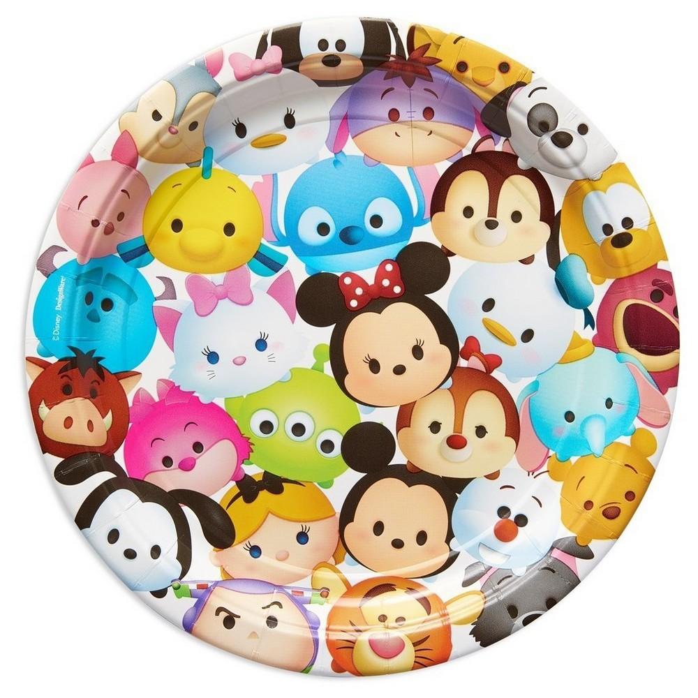 Tsum Tsum Round Disposable Plates - 8ct, Multi-Colored