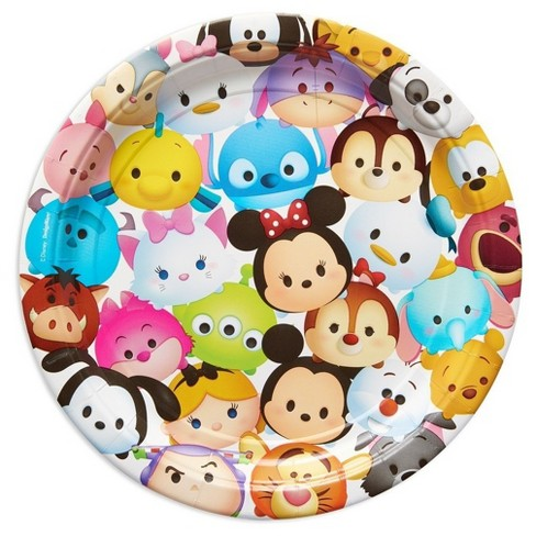 Tsum Tsum Round Disposable Plates - 8ct - image 1 of 2