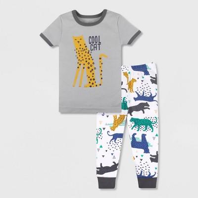 Lamaze Toddler Boys' 2pc Organic Cotton Snug Fit Pajama Set - Gray
