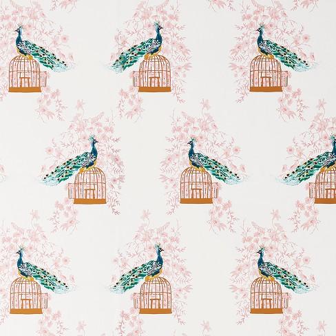 Peacock Peel Stick Wallpaper Opalhouse Target