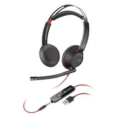 Plantronics Blackwire C5220 USB-A Corded / Wired Computer Headset - Dual Ear (Stereo) Headset, Black - Plantronics a Poly Company
