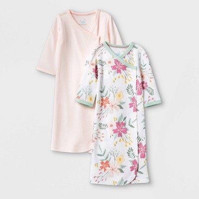 Baby Girls' Meadow Nightgown - Cloud Island™ White Preemie