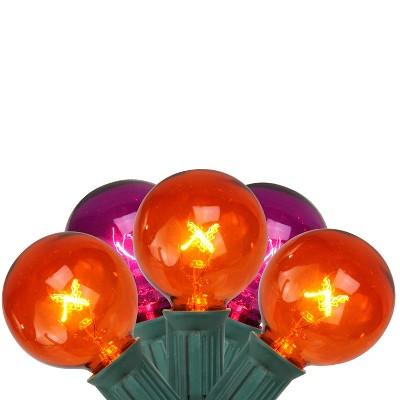 Northlight 10ct G40 Globe Halloween Lights Orange/Purple - 9' Green Wire