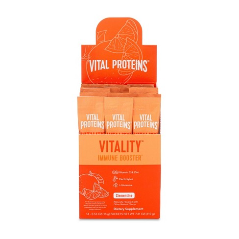 Vital Proteins Vitality Immune Booster Dietary Supplement Sticks - Clementine - 14ct - image 1 of 4